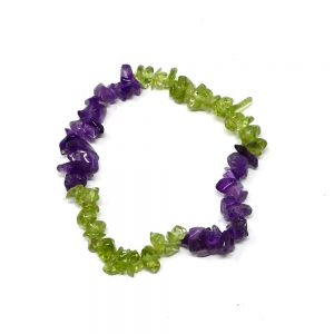 Peridot & Amethyst Chip Bracelet All Crystal Jewelry amethyst