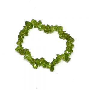 Peridot Single Strand Chip Bracelet Crystal Jewelry bracelet