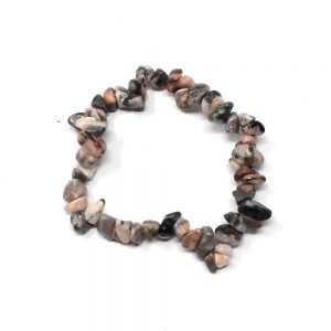 Pink Botswana Agate Single Strand Chip Bracelet All Crystal Jewelry agate