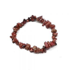 Rhodonite Single Strand Chip Bracelet Crystal Jewelry bracelet