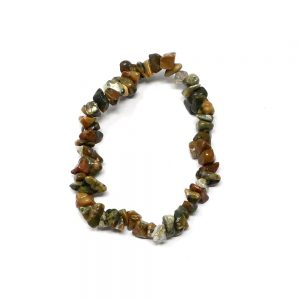 Rhyolite Single Strand Chip Bracelet All Crystal Jewelry bracelet