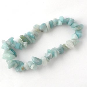 Amazonite Single Strand Chip Bracelet