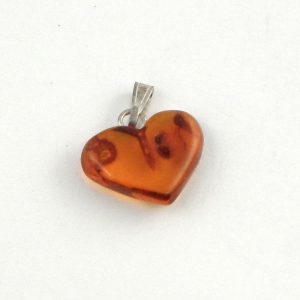 Baltic Amber Heart Pendant Crystal Jewelry amber