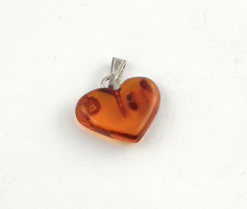 Baltic Amber Heart Pendant All Crystal Jewelry