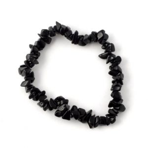 Black Obsidian Single Strand Chip Bracelet