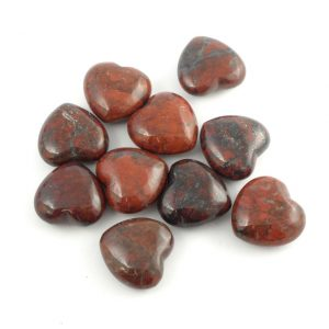Jasper, Brecciated, Heart, bag of 10 All Polished Crystals brecciated jasper