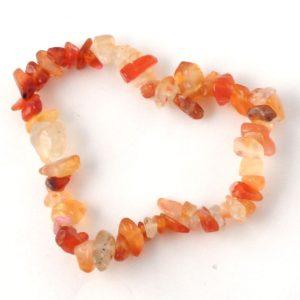Carnelian Single Strand Chip Bracelet All Crystal Jewelry bracelet