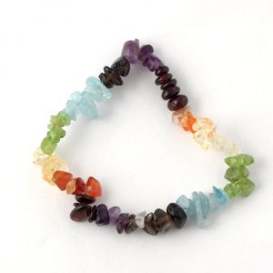 Chakra Single Strand Chip Bracelet Crystal Jewelry bracelet