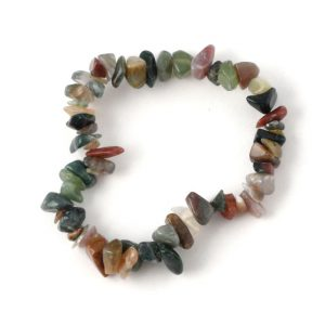 Fancy Jasper Single Strand Chip Bracelet All Crystal Jewelry bracelet