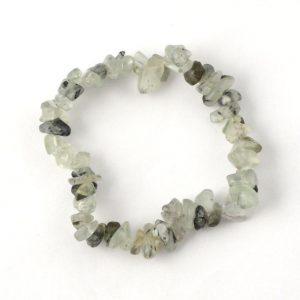 Green Garnet Single Strand Chip Bracelet Crystal Jewelry bracelet