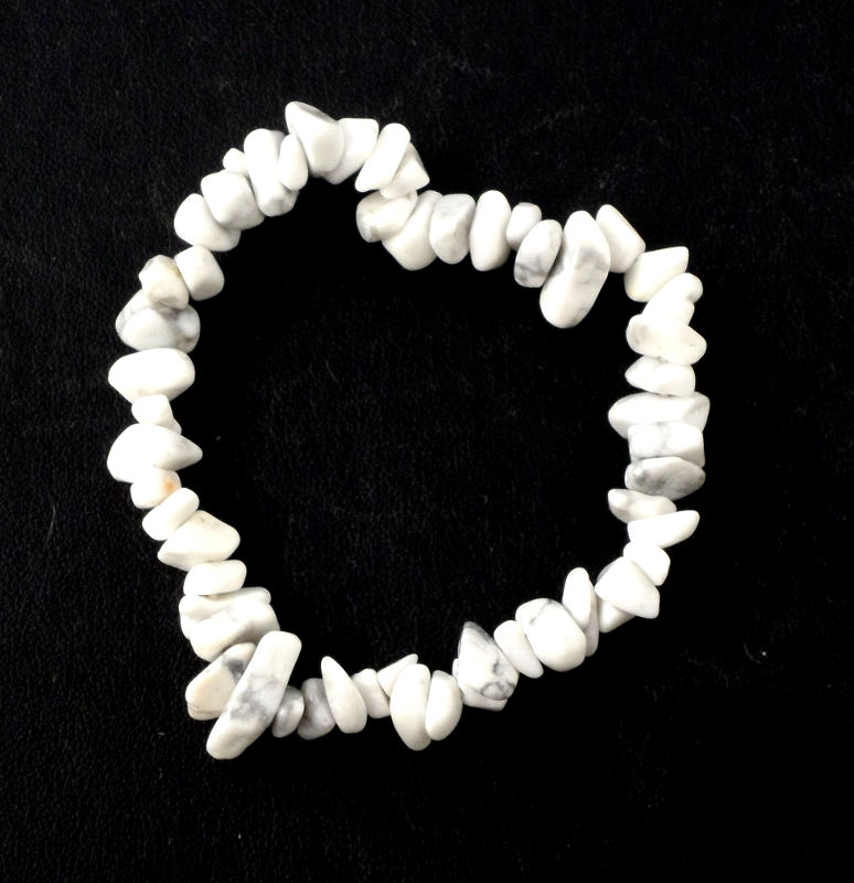 Howlite Single Strand Chip Bracelet All Crystal Jewelry bracelet