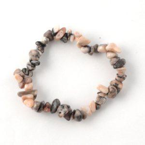Leopardskin Agate Single Strand Chip Bracelet All Crystal Jewelry agate bracelet