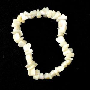 Mother of Pearl Single Strand Chip Bracelet Crystal Jewelry bracelet