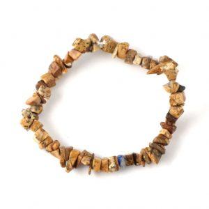 Picture Jasper Single Strand Chip Bracelet All Crystal Jewelry bracelet
