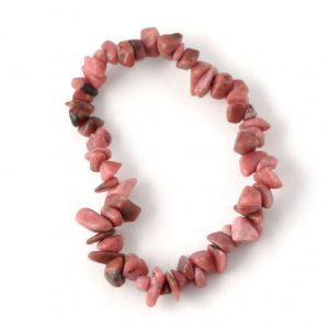 Rhodonite Single Strand Chip Bracelet All Crystal Jewelry