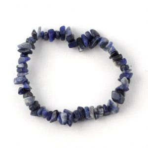 Sodalite Single Strand Chip Bracelet All Crystal Jewelry bracelet