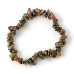 Unakite Single Strand Chip Bracelet All Crystal Jewelry bracelet