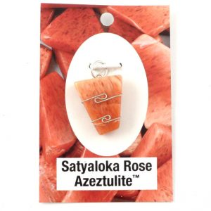 Satyaloka Rose Azeztulite Pendant All Crystal Jewelry azeztulite