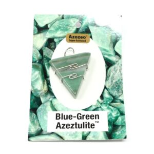 Blue-Green Azeztulite Wire Wrapped Pendant All Crystal Jewelry azeztulite