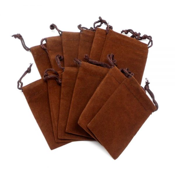 Brown Pouch Small 12 pack Accessories brown crystal pouch