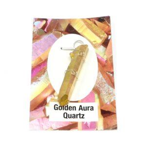 Golden Aura Quartz Wire Wrapped Pendant All Crystal Jewelry golden aura quartz