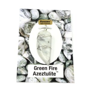 Green Fire Azeztulite Wire Wrapped Pendant All Crystal Jewelry azeztulite
