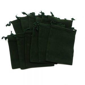 Green Pouch Medium 12 pack Accessories bulk crystal pouches