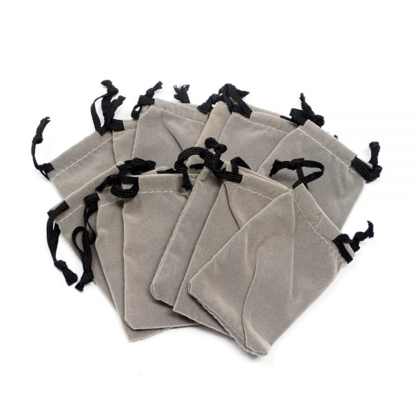 Grey Pouch Small 12 pack Accessories bulk crystal pouches