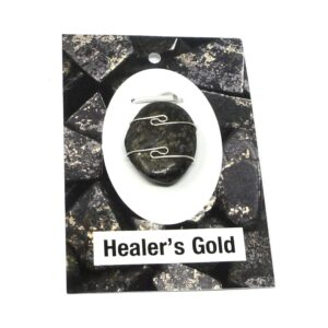 Healer's Gold Wire Wrapped Pendant All Crystal Jewelry Healer's Gold healing properties