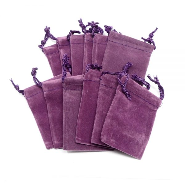 Purple Pouch Small 12 pack Accessories bulk crystal pouches