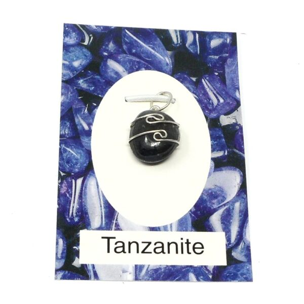 Tanzanite Wire Wrapped Pendant All Crystal Jewelry sterling silver pendant