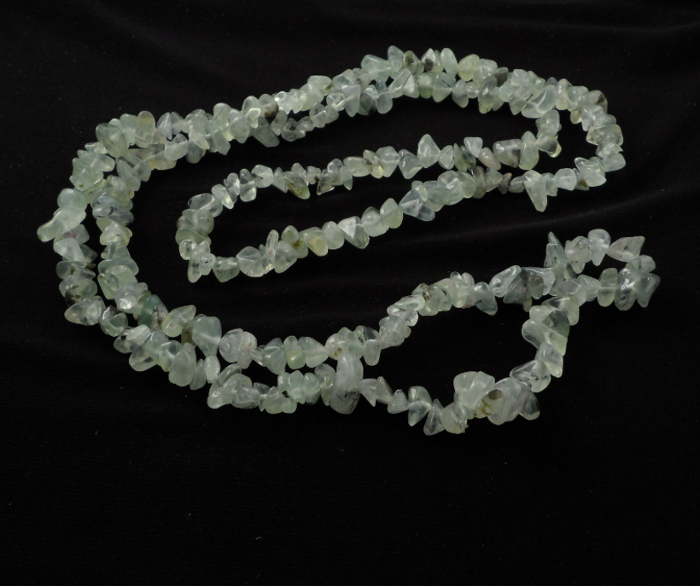 Garnet, Green Chip Bead Necklace All Crystal Jewelry chip bead