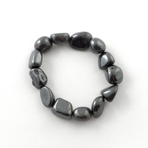 Hematite Tumbled Stone Bracelet Crystal Jewelry bracelet