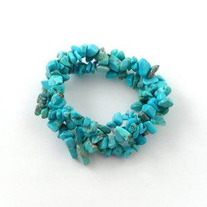 Blue Howlite 3 Strand Bracelet All Crystal Jewelry 3 strand
