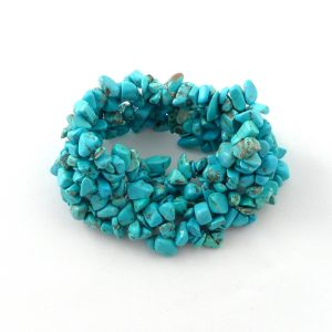 Blue Howlite 5-Strand Bracelet All Crystal Jewelry 5 strand