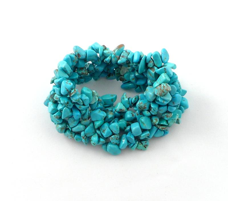 Blue Howlite 5-Strand Bracelet All Crystal Jewelry 5 strand