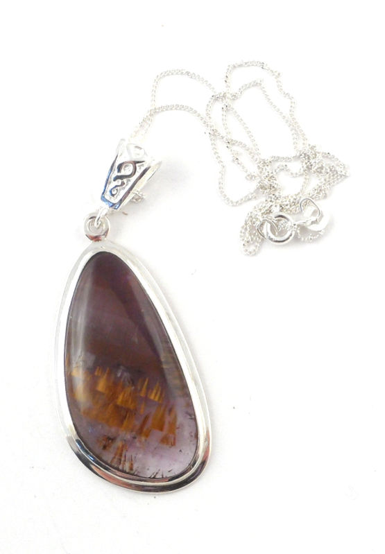 Cacoxenite necklace D All Crystal Jewelry Cacoxenite necklace D