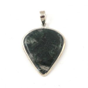 Moss agate pendant B All Crystal Jewelry [tag]