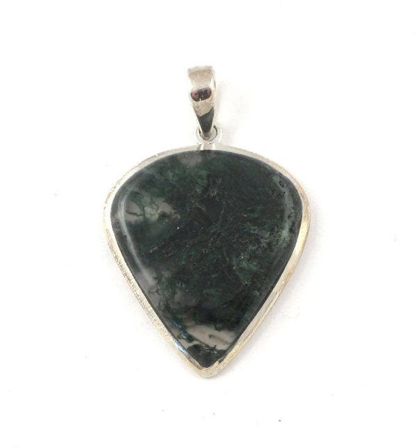 Moss agate pendant B All Crystal Jewelry
