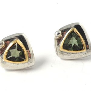Moldavite Stud Earrings Crystal Jewelry earrings