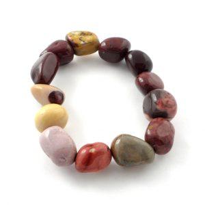 Mookaite Tumbled Stone Bracelet Crystal Jewelry bracelet