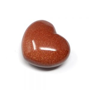 Goldstone Heart 45mm Polished Crystals crystal heart