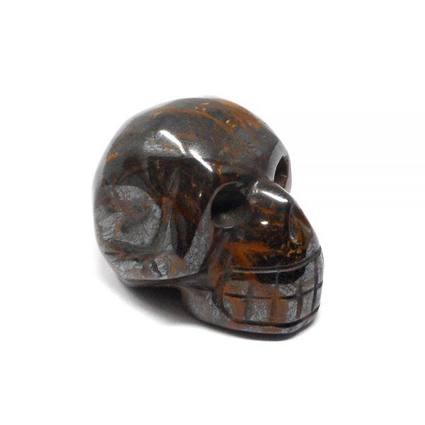 Tiger Iron Crystal Skull All Polished Crystals carved tiger iron skull