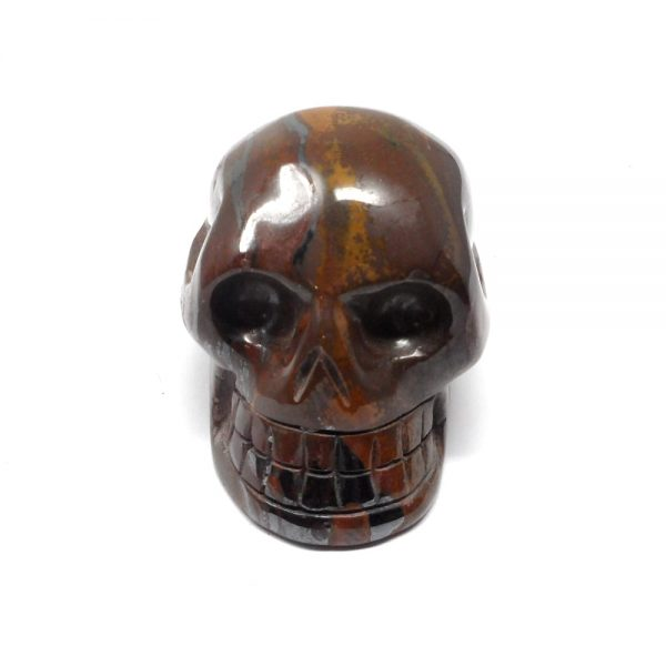 Tiger Iron Crystal Skull All Polished Crystals carved tiger iron skull