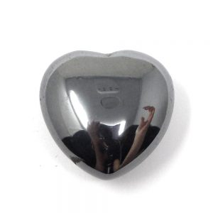 Hematite Carved Heart All Polished Crystals crystal heart