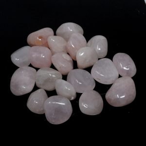 Quartz, Rose, md, tumbled, 16oz All Tumbled Stones bulk pink quartz