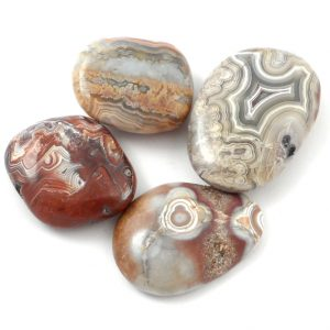 Agate, Lace, tumbled, 2oz All Tumbled Stones agate