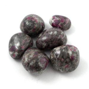 Ruby on Rhyolite, tumbled, 2oz Tumbled Stones ruby