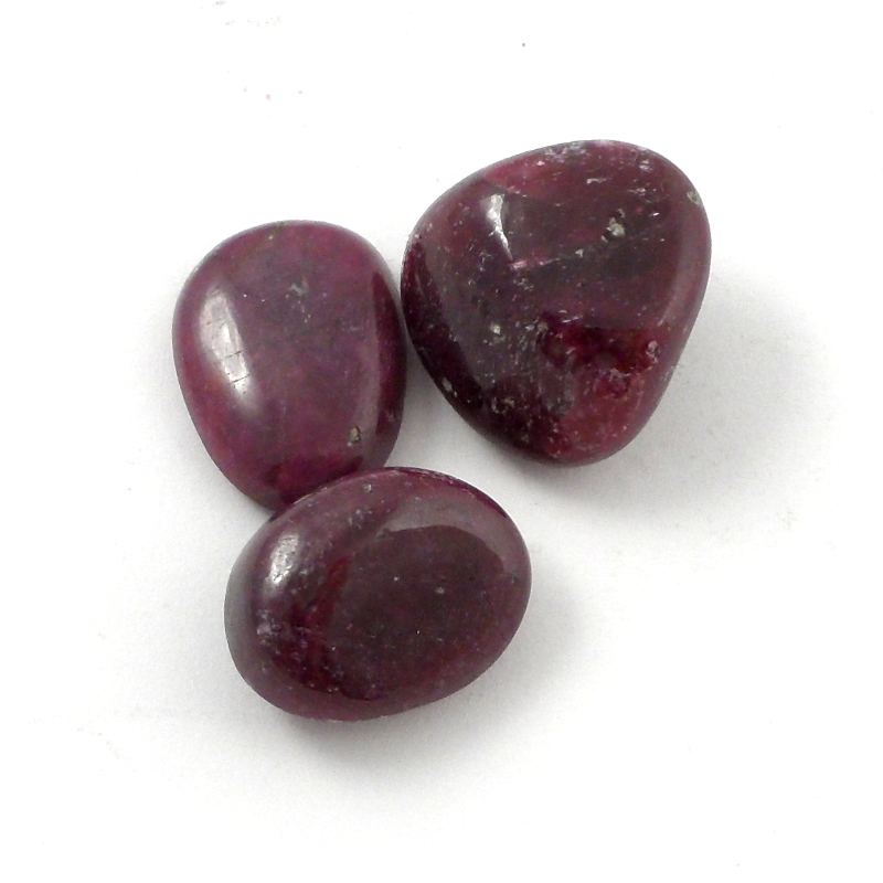 Ruby, tumbled, 10 grams Tumbled Stones ruby