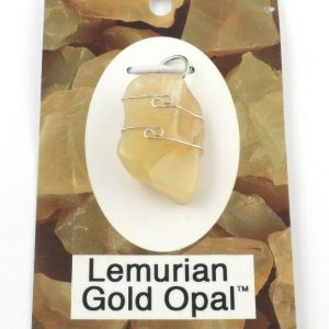 Lemurian Gold Opal Wire Wrapped Pendant Crystal Jewelry lemurian gold opal